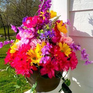 Beautiful Bountiful Colorful Hanging Basket!